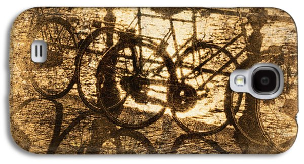 Useful Galaxy S4 Cases - Bikes On The Canal Galaxy S4 Case by Skip Nall