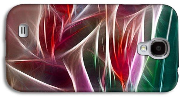 Bird Of Paradise Fractal Panel 2 Galaxy S4 Case by Peter Piatt