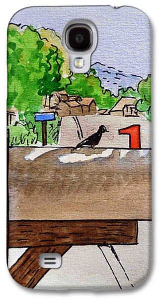 Bird On The Mailbox Sketchbook Project Down My Street Galaxy S4 Case by Irina Sztukowski