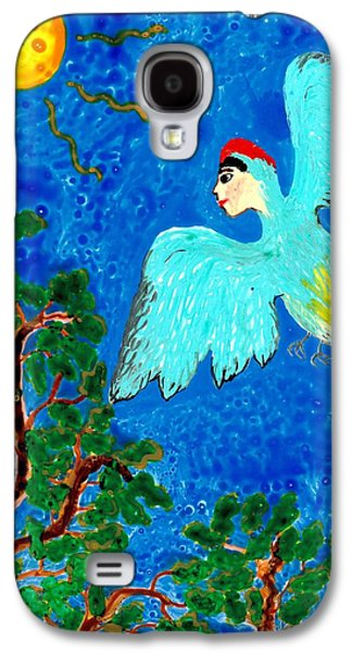 Fantasy Ceramics Galaxy S4 Cases - Bird people Green woodpecker Galaxy S4 Case by Sushila Burgess