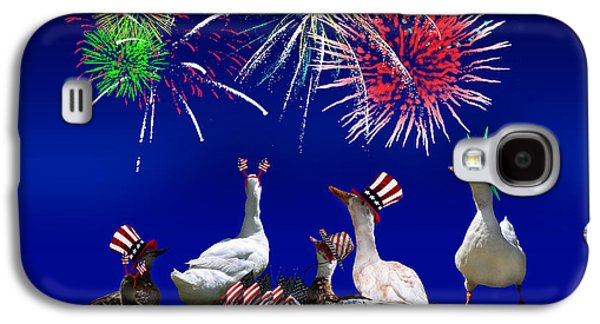 4th July Mixed Media Galaxy S4 Cases - Birds of a Feather Celebrate Freedom Galaxy S4 Case by Gravityx Designs
