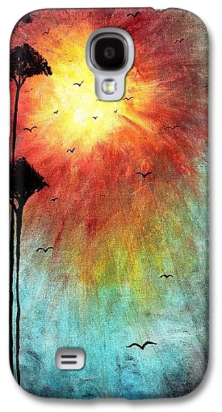 Tree Print Mixed Media Galaxy S4 Cases - Birds Of The Sun Galaxy S4 Case by Mike Grubb