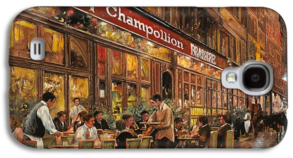 Street Paintings Galaxy S4 Cases - Bistrot Champollion Galaxy S4 Case by Guido Borelli