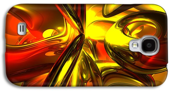 Digital Art Greeting Cards Galaxy S4 Cases - Bittersweet Abstract Galaxy S4 Case by Alexander Butler