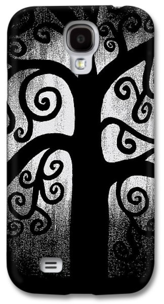 Light And Dark  Galaxy S4 Cases - Black and White Tree Galaxy S4 Case by Angelina Vick