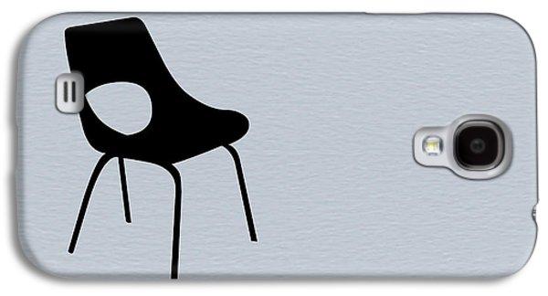 Chair Digital Art Galaxy S4 Cases - Black Chair Galaxy S4 Case by Naxart Studio