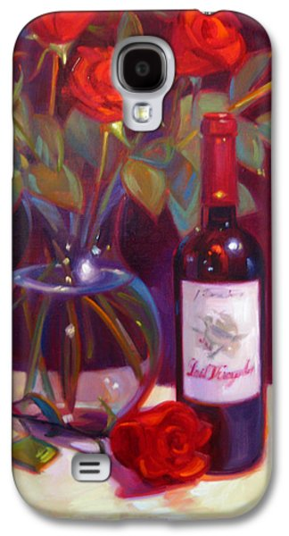 Wine Reflection Art Galaxy S4 Cases - Black Cherry Bouquet Galaxy S4 Case by Penelope Moore