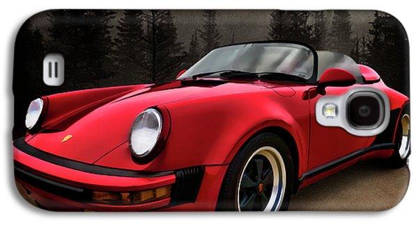Automotive Digital Art Galaxy S4 Cases - Black Forest - Red Speedster Galaxy S4 Case by Douglas Pittman