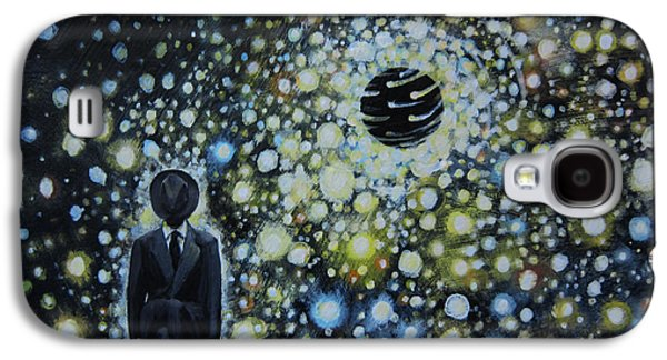 Political Allegory Galaxy S4 Cases - Black Hole Man Galaxy S4 Case by Shelly Leitheiser