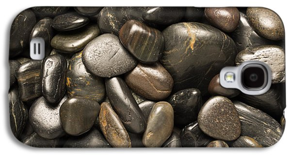 Pebbles Galaxy S4 Cases - Black River Stones Square Galaxy S4 Case by Steve Gadomski
