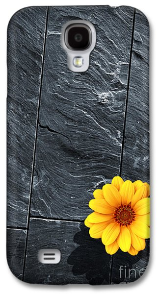 Stonewall Galaxy S4 Cases - Black Schist Flower Galaxy S4 Case by Carlos Caetano