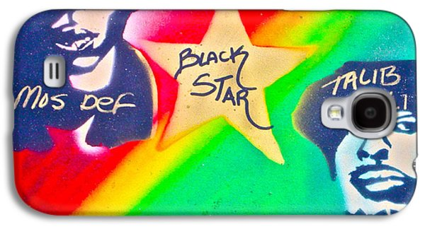 First Amendment Paintings Galaxy S4 Cases - Black Star Galaxy S4 Case by Tony B Conscious