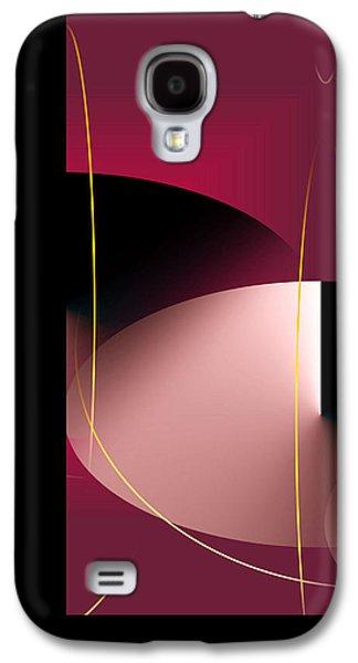 Abstract Digital Art Galaxy S4 Cases - Black Vs White Vs Red Galaxy S4 Case by John Krakora
