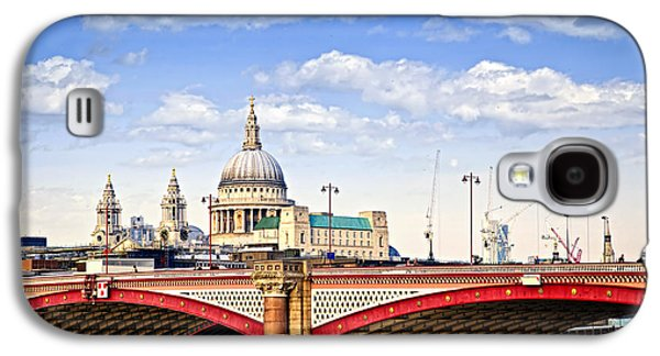 Blackfriars Bridge And St. Paul's Cathedral In London Galaxy S4 Case by Elena Elisseeva