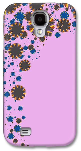 Blades On Purple Galaxy S4 Case by Atiketta Sangasaeng