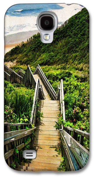 Landscape Digital Art Galaxy S4 Cases - Block Island Galaxy S4 Case by Lourry Legarde