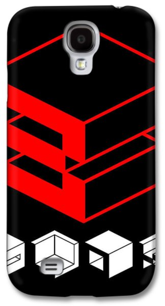 Forms Digital Art Galaxy S4 Cases - Blok Poster Galaxy S4 Case by Naxart Studio