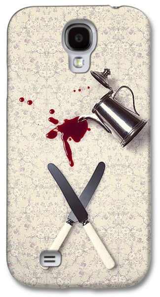 Creepy Galaxy S4 Cases - Bloody Dining Table Galaxy S4 Case by Joana Kruse