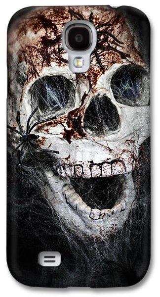 Ancient Galaxy S4 Cases - Bloody Skull Galaxy S4 Case by Joana Kruse