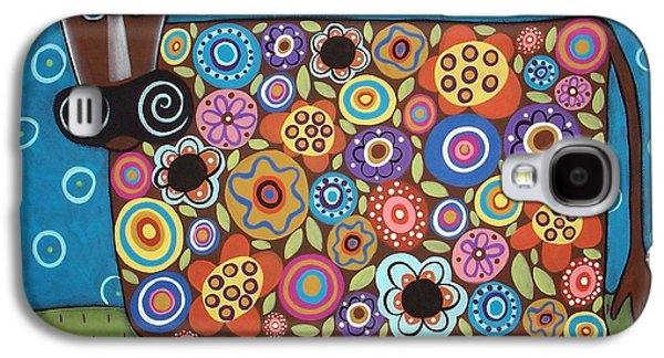 Landscape Greeting Cards Galaxy S4 Cases - Blooming Cow Galaxy S4 Case by Karla Gerard