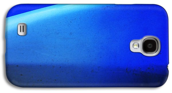 Blue Abstracts Galaxy S4 Cases - Blue Canoe Galaxy S4 Case by Skip Hunt