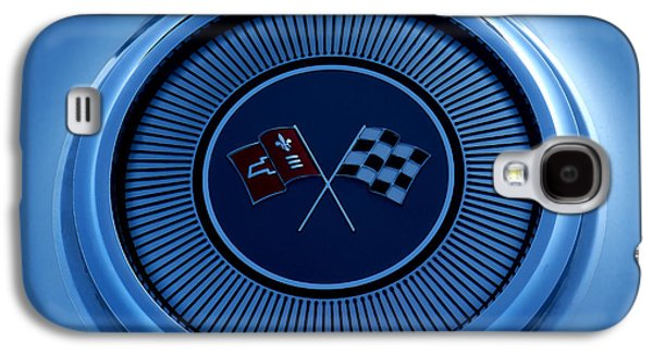 Automotive Digital Art Galaxy S4 Cases - Blue Corvette Badge Galaxy S4 Case by Douglas Pittman