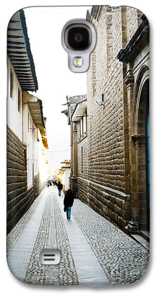 35mm Galaxy S4 Cases - Blue Door in Cusco Galaxy S4 Case by Darcy Michaelchuk