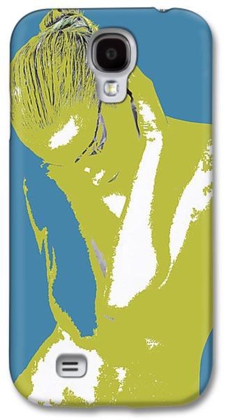Jewelry Galaxy S4 Cases - Blue Drama Galaxy S4 Case by Naxart Studio