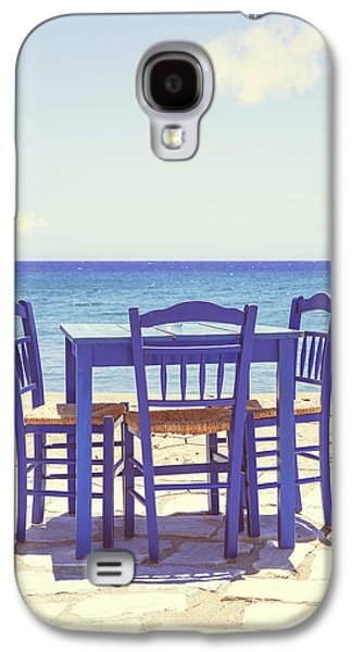 Chair Galaxy S4 Cases - Blue Galaxy S4 Case by Joana Kruse