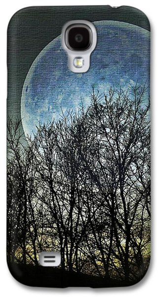 Creepy Galaxy S4 Cases - Blue Moon Galaxy S4 Case by Marianna Mills