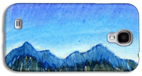 Nature Abstract Pastels Galaxy S4 Cases - Blue Mountains Galaxy S4 Case by Hakon Soreide