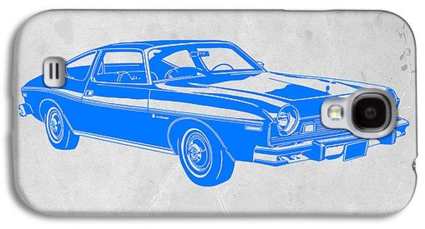 Americans Digital Art Galaxy S4 Cases - Blue Muscle Car Galaxy S4 Case by Naxart Studio