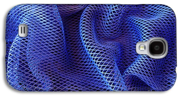 Vibrant Galaxy S4 Cases - Blue Net Background Galaxy S4 Case by Carlos Caetano