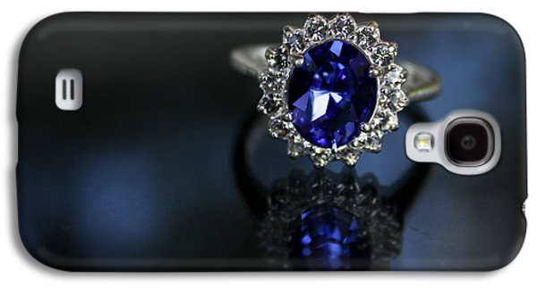 Kate Middleton Galaxy S4 Cases - Blue on Bling Galaxy S4 Case by Theresa Johnson