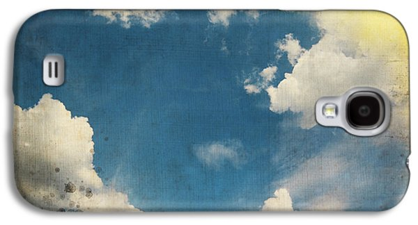 Torn Galaxy S4 Cases - Blue Sky On Old Grunge Paper Galaxy S4 Case by Setsiri Silapasuwanchai