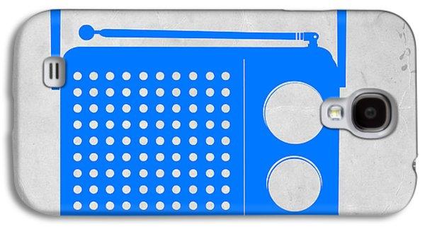 Radio Galaxy S4 Cases - Blue transistor radio Galaxy S4 Case by Naxart Studio