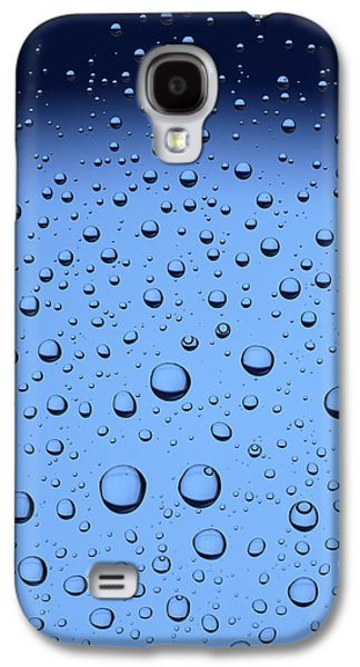 Gradient Galaxy S4 Cases - Blue Water Bubbles Galaxy S4 Case by Frank Tschakert
