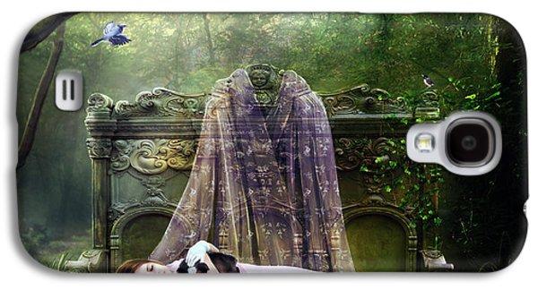 Puppies Digital Art Galaxy S4 Cases - Bluebell Dreams Galaxy S4 Case by Karen H