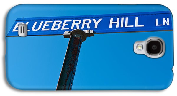 Maine Roads Galaxy S4 Cases - Blueberry Hill Sign Galaxy S4 Case by Steve Gadomski
