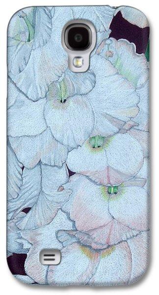 Gladiolas Paintings Galaxy S4 Cases - Blush Galaxy S4 Case by Anita Putman