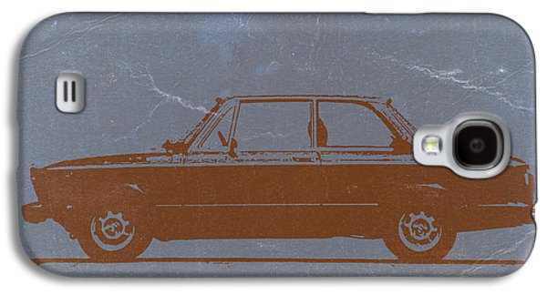 Automotive Digital Art Galaxy S4 Cases - BMW 2002 Orange Galaxy S4 Case by Naxart Studio