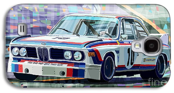 Automotive Galaxy S4 Cases - BMW 3 0 CSL 1st SPA 24hrs 1973 Quester Hezemans Galaxy S4 Case by Yuriy  Shevchuk