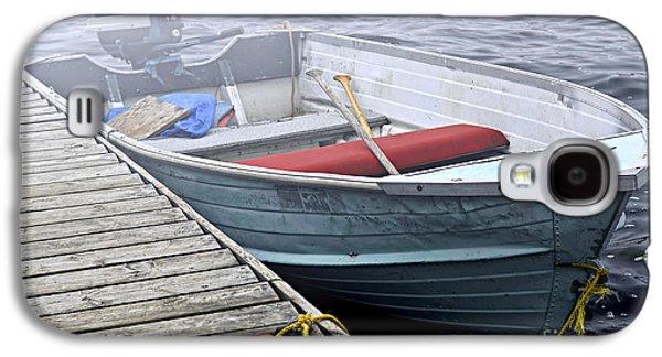 Boat In Fog Galaxy S4 Case by Elena Elisseeva