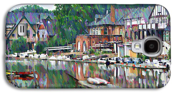 Phillies Galaxy S4 Cases - Boathouse Row in Philadelphia Galaxy S4 Case by Bill Cannon