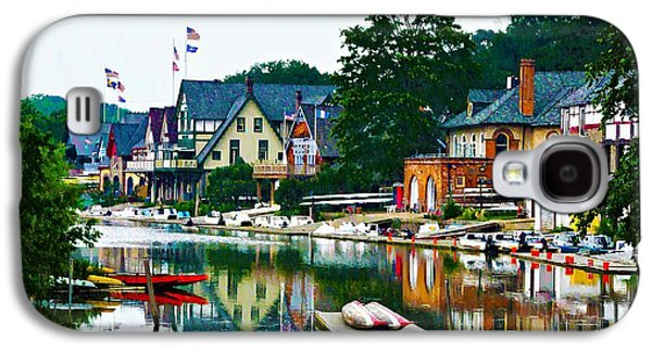 Phillies Digital Art Galaxy S4 Cases - Boathouse Row in Philly Galaxy S4 Case by Bill Cannon