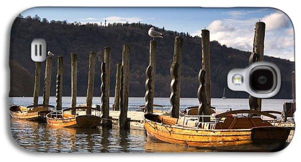 Boats At The Dock Galaxy S4 Cases - Boats Docked On A Pier, Keswick Galaxy S4 Case by John Short