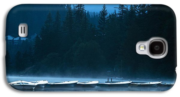 Contemplative Photographs Galaxy S4 Cases - Boats In Early Morning Galaxy S4 Case by Ron Nickel