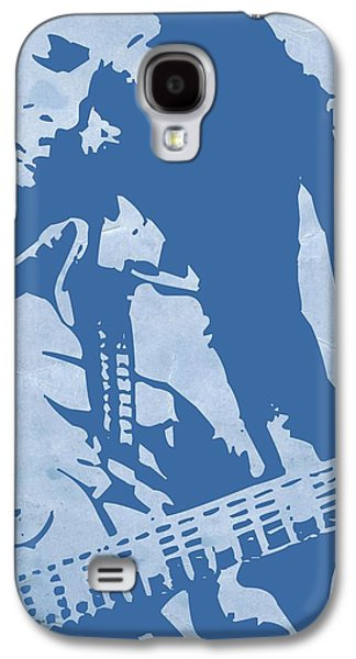 Jamaican Paintings Galaxy S4 Cases - Bob Marley Blue Galaxy S4 Case by Naxart Studio