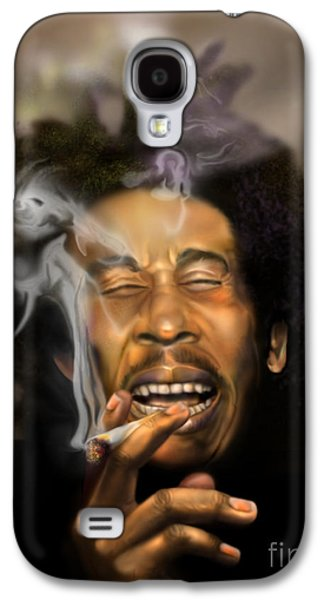 Recently Sold -  - African-american Galaxy S4 Cases - Bob Marley-Burning Lights 3 Galaxy S4 Case by Reggie Duffie