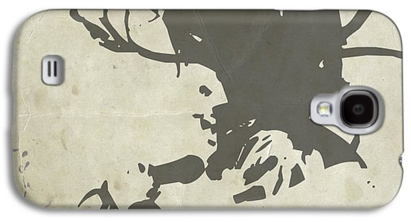 Rock Paintings Galaxy S4 Cases - Bob Marley Grey Galaxy S4 Case by Naxart Studio